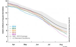 Avec les records de températures, la glace du pôle nord…