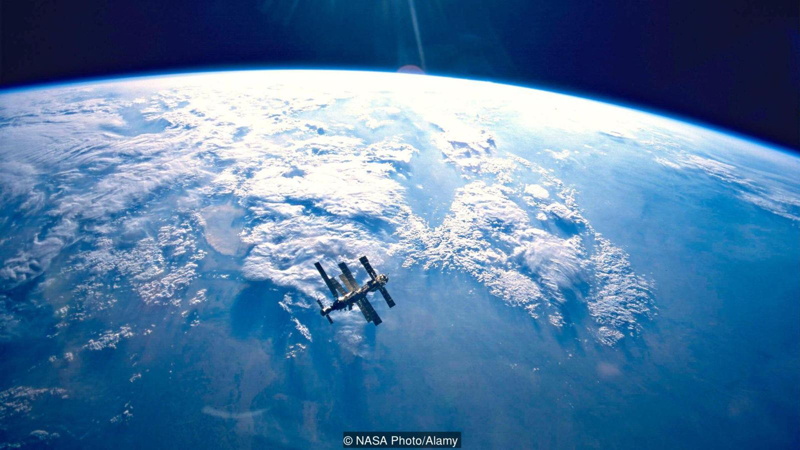 La station Mir avant son crash dans le Pacifique - Crédits photo : NASA Photo/Alamy