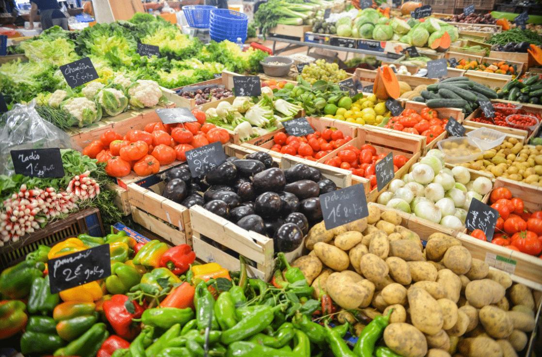 légumes étalage