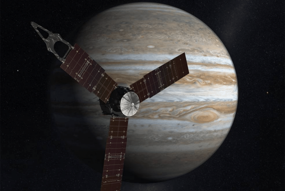 Vue d'artiste Juno et Jupiter