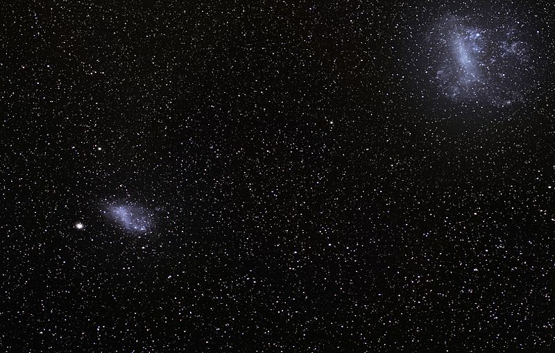 nuages de magellan galaxies collision voie lactée