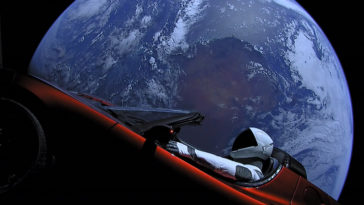 Tesla espace starman