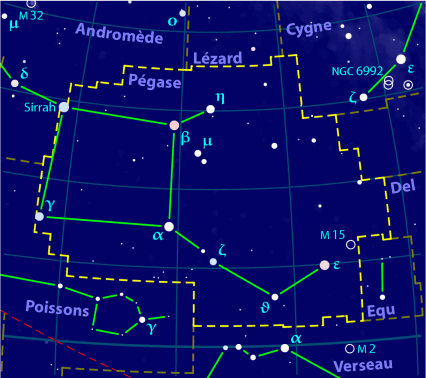 carte constellation Pégase
