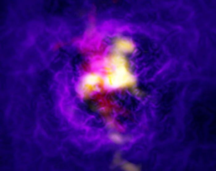 trou noir gaz univers galaxie