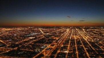 chicago lumières ville pollution lumineuse