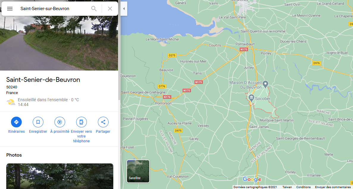 Saint-Senier-sur-Beuvron captures Google Maps