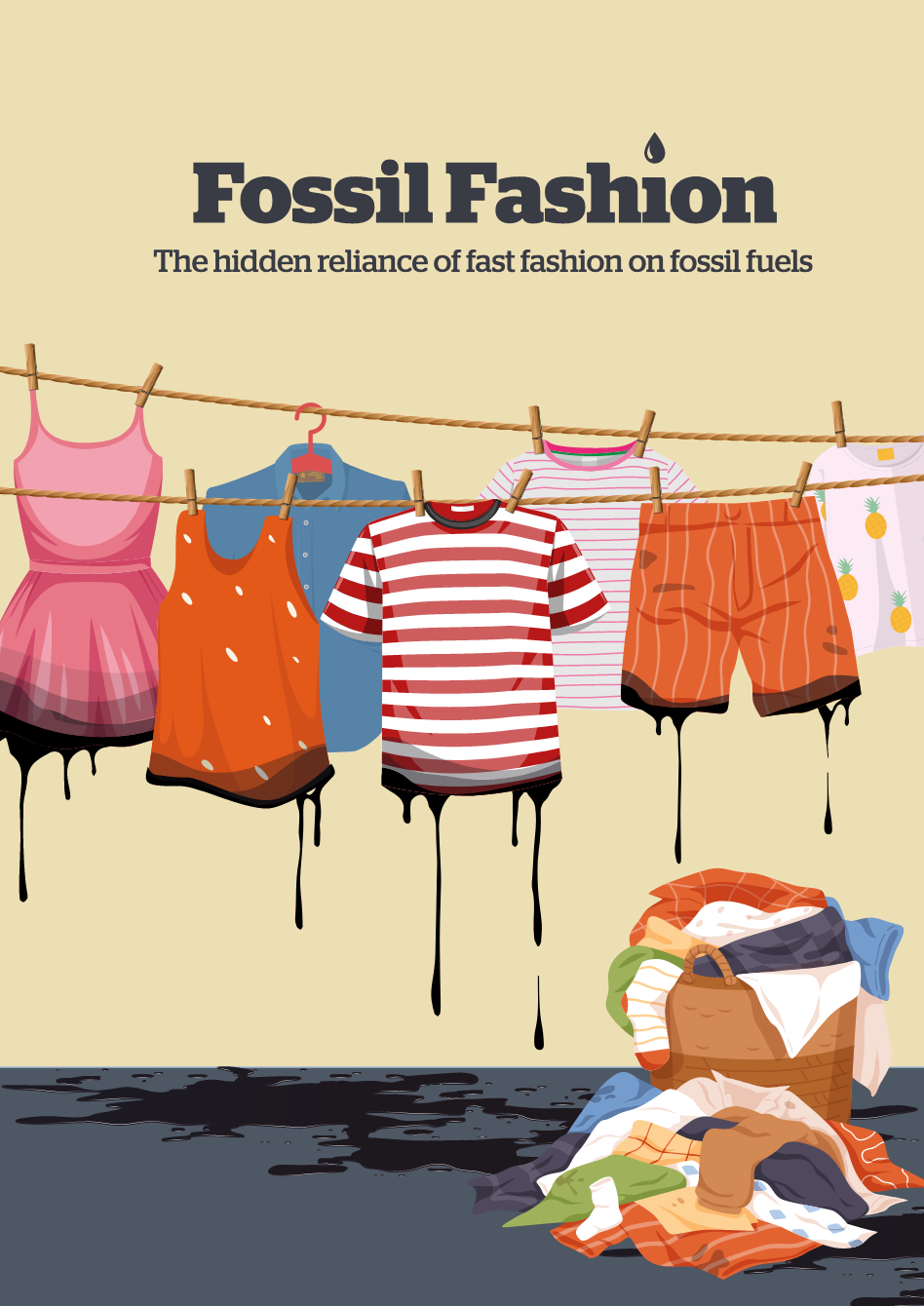 Fossil fashion report NGO textile polyester