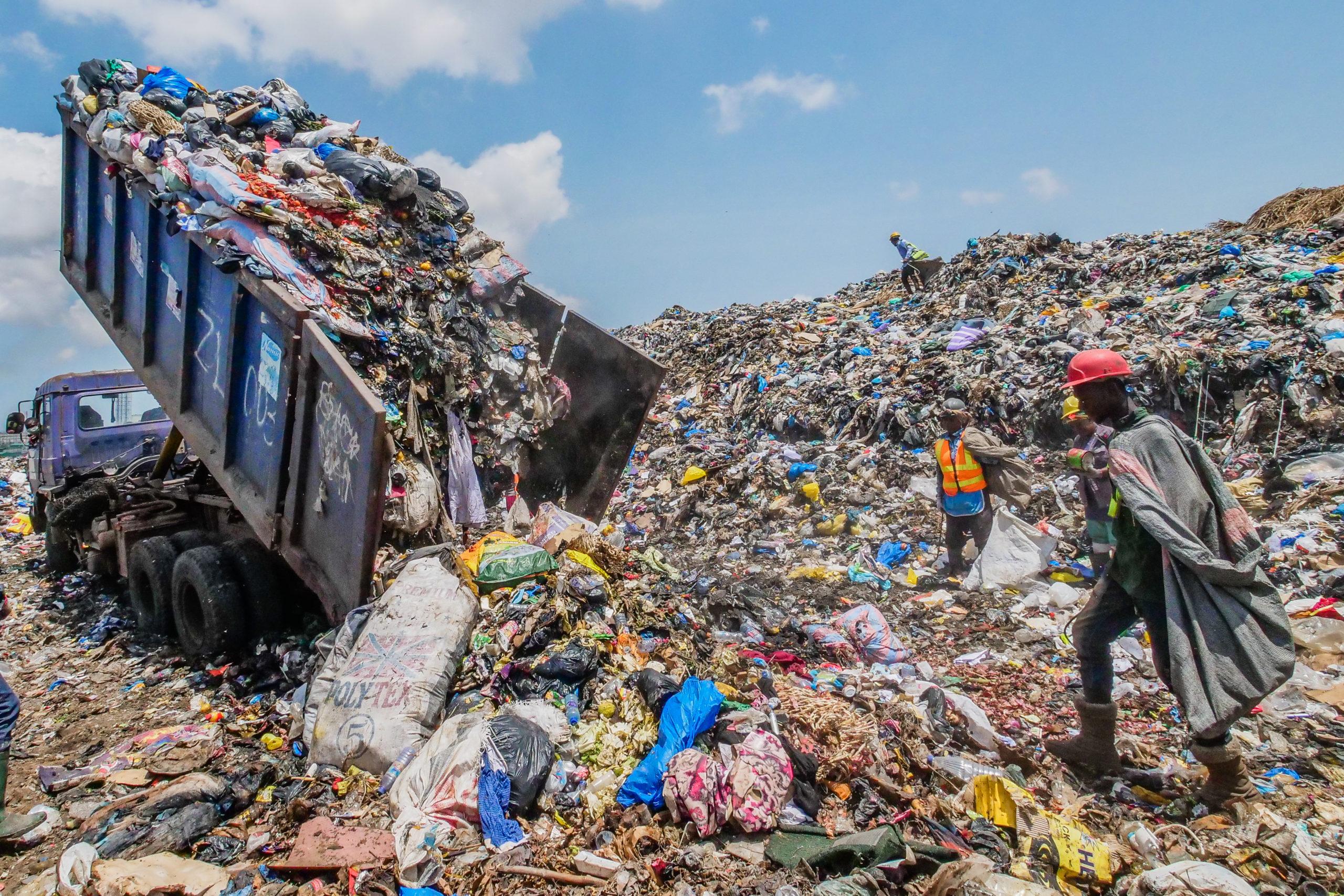 décharge déchets ciel ouvert