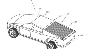 Tesla Cybertruck toit solaire retractable