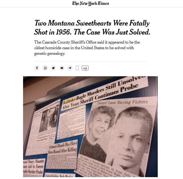 une New york times affaire meurtes montana 1956