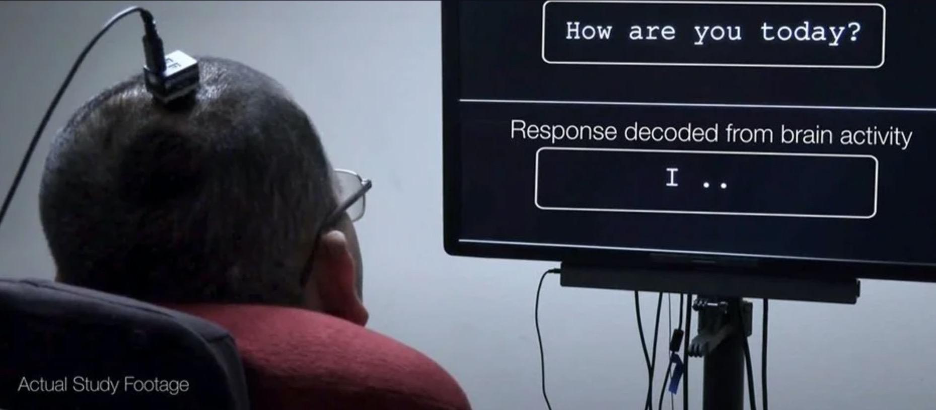 Paralysé, un homme écrit sur un écran grâce à un implant dans le cerveau